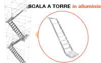 Scala a torre in  alluminio Efesto Production
